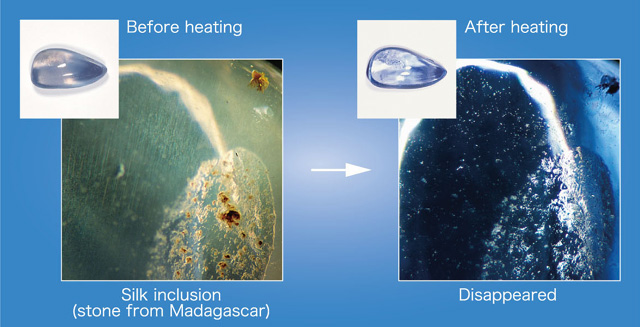 sapphire treated gemresearch diffustion grs heat treating gallery inclusion swisslab ag