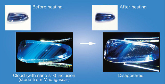 particle heat chinese treatment treating sapphire of bare large stone vitreous surface item no natural ring